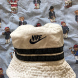 Vintage White Nike Canvas Bucket Hat-Hats/Accessories-DISTINCT - THREADS
