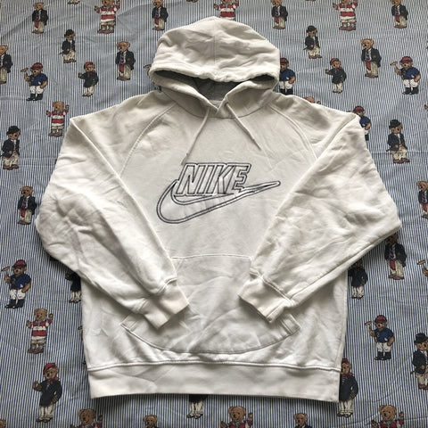 Vintage White Nike Hoodie (M)-Sweatshirts/Jumpers-DISTINCT - THREADS