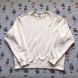 Vintage White Nike Sweatshirt (L)-Sweatshirts/Jumpers-DISTINCT - THREADS