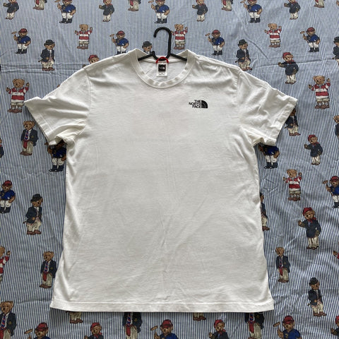 Vintage White North Face Tee (L)-T Shirts-DISTINCT - THREADS