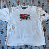 Vintage White Reebok T Shirt (XL/L)-T Shirts-DISTINCT - THREADS