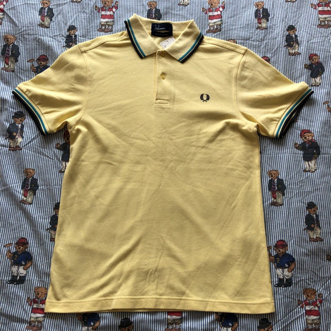 Vintage Yellow Fred Perry Polo Shirt (S)-Polos-DISTINCT - THREADS