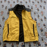 Vintage Yellow / Grey Reversible Nautica Fleece Jacket / Gilet (L)-Jackets/Coats-DISTINCT - THREADS