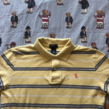 Vintage Yellow & Navy Striped Ralph Lauren Polo Shirt (S)-Polos-DISTINCT - THREADS