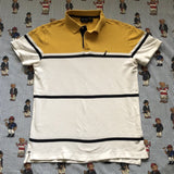 Vintage Yellow & White Nautica Polo Shirt (L)-Polos-DISTINCT - THREADS