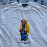 White Polo Bear Tee's (Slim Fit - XXL, XL, L)-T Shirts-DISTINCT - THREADS
