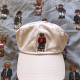 White Ralph Lauren Polo Bear Six Panel Cap 🐻 (Sports)-Hats/Accessories-DISTINCT - THREADS