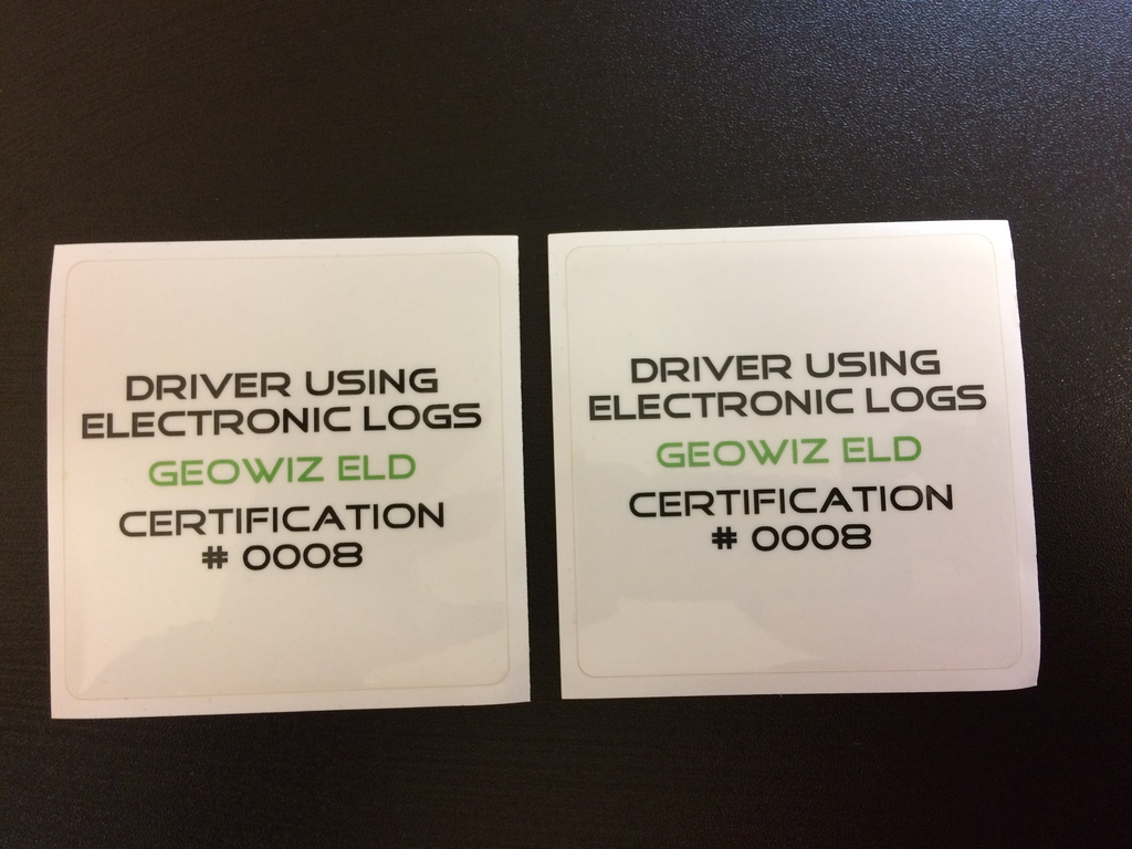 ELD Door Stickers