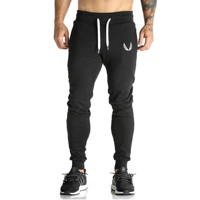 Cotton Men full sportswear Pants Casual Elastic - Trend-gem