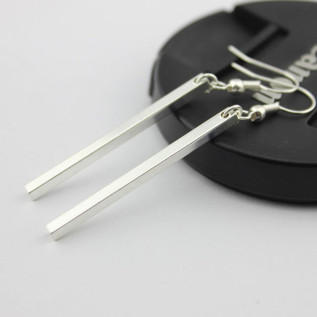 Vertical Bar Drop Earrings - Trend-gem