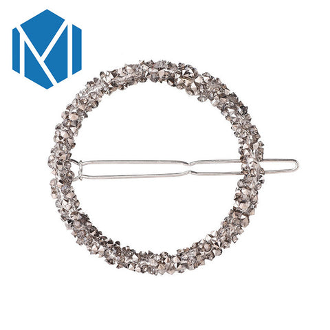 Fashion Woman Hair Accessories Triangle Hair Clip Pin Metal Geometric Alloy Headdress Moon Circle Hairgrip Barrette - Trend-gem