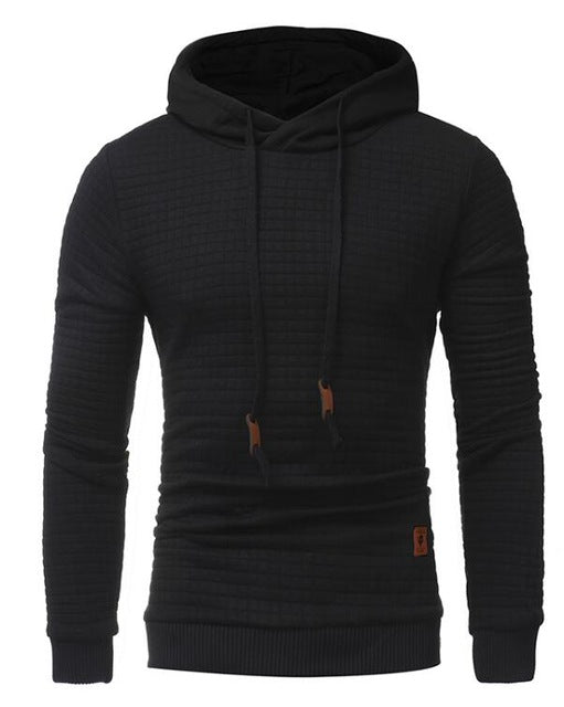 Men's Long Sleeve Solid Color Hooded Sweatshirt - Trend-gem