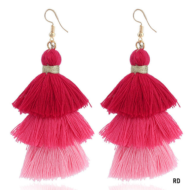 Tiered Tassel Earrings - Trend-gem