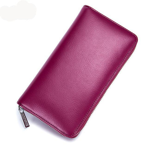 Women's Leather RFID Blocking Anti Theft Wallet - Trend-gem
