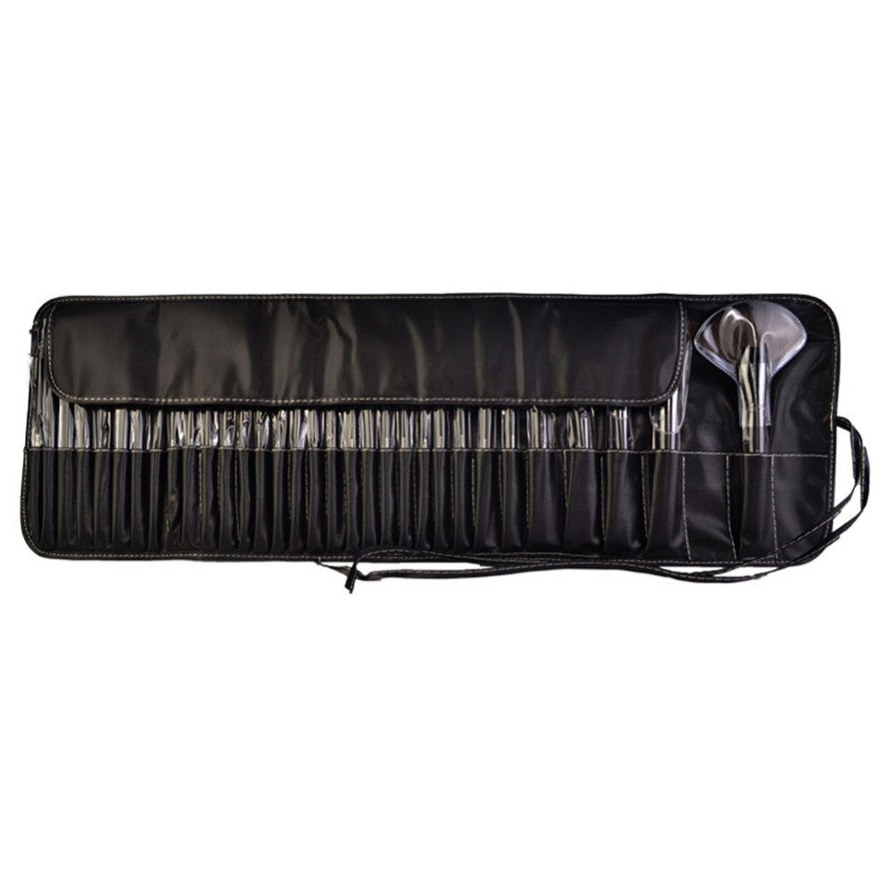 Pro 32 PCS MakeUp Brush Set Kit With Black Leather Case - Trend-gem