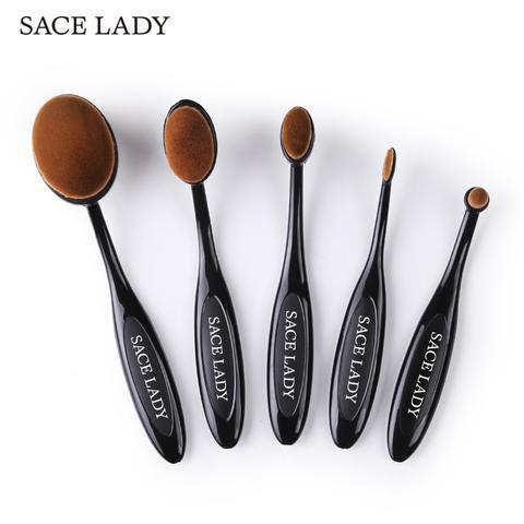 Shop Oval Makeup Brush Set