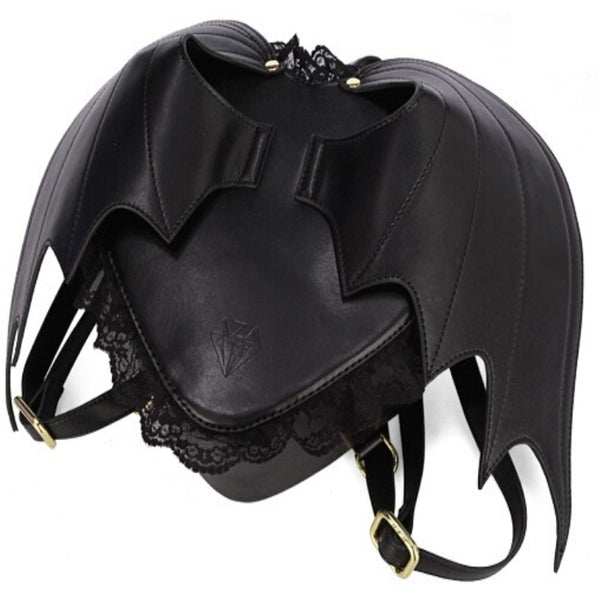 Black Bat Heart Backpack