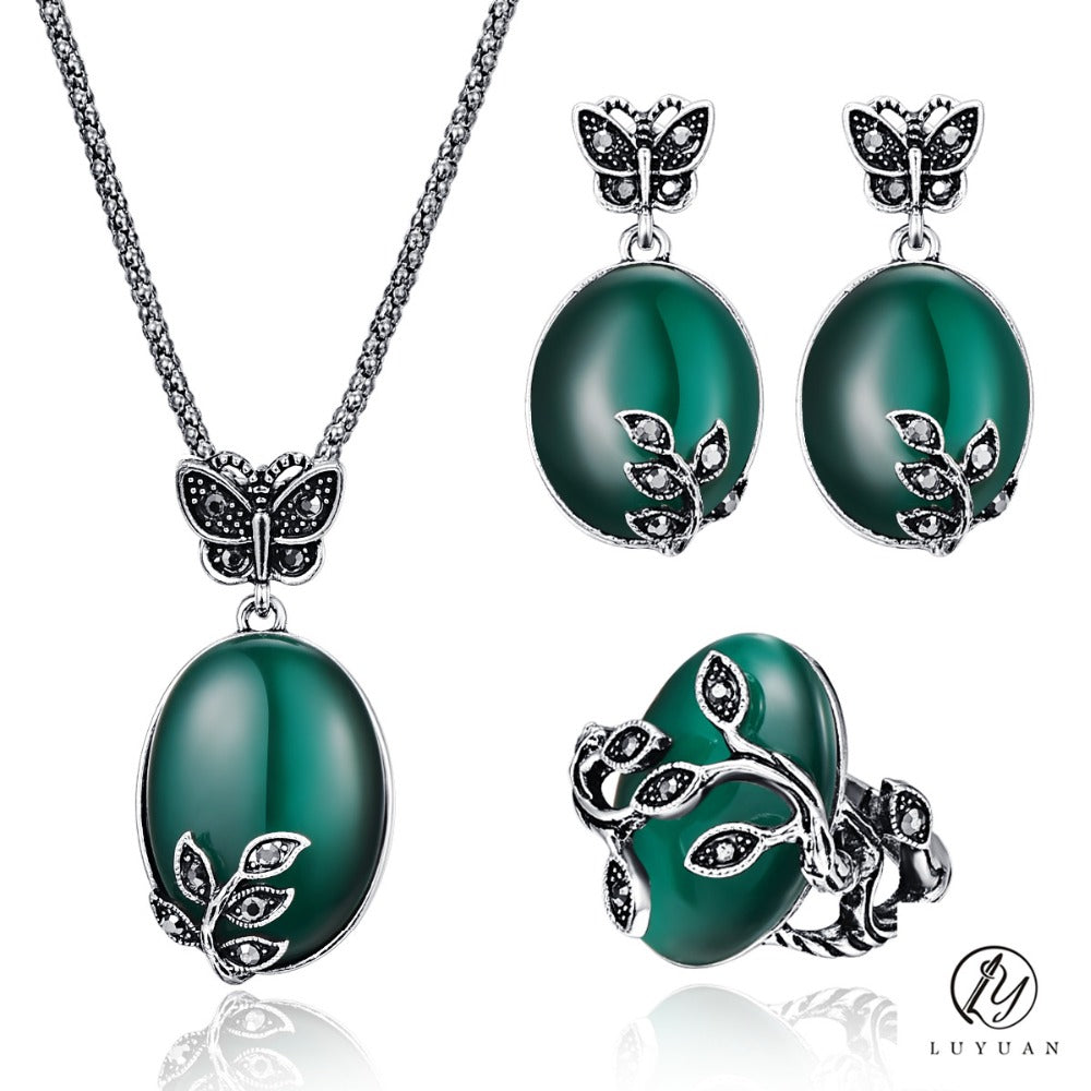 Butterfly leaves value set rebel goth for Rebel designs jewelry sale