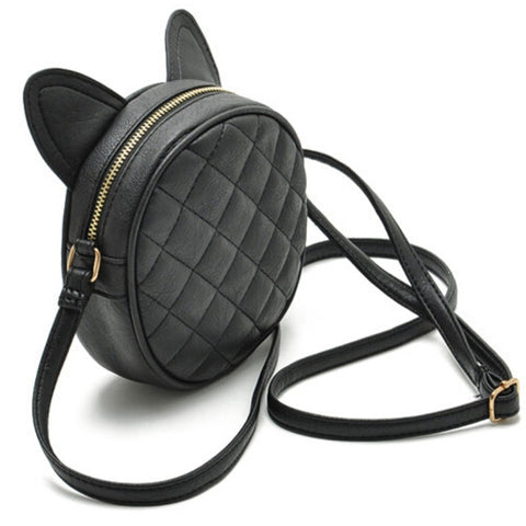 Cat Ears Quilted Bag - Rebel Goth Fashion, Jewelry, Accessories