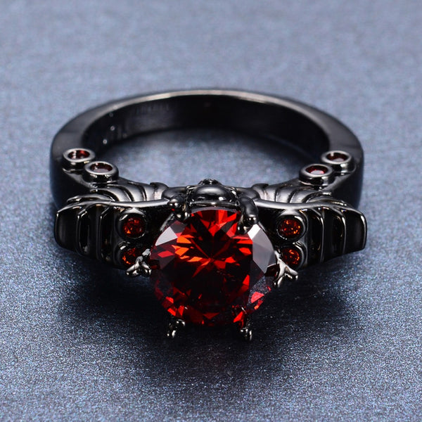 Gold Filled Ruby Ring - Rebel Goth Fashion, Jewelry, Accessories