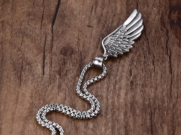 Vintage Angel Wing Necklace