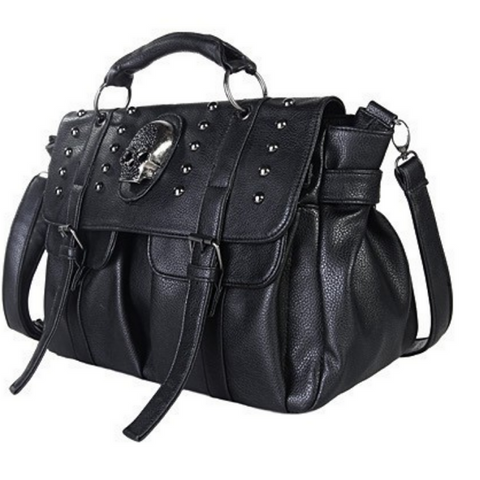 Skull Rivet Bag - Rebel Goth Fashion, Jewelry, Accessories