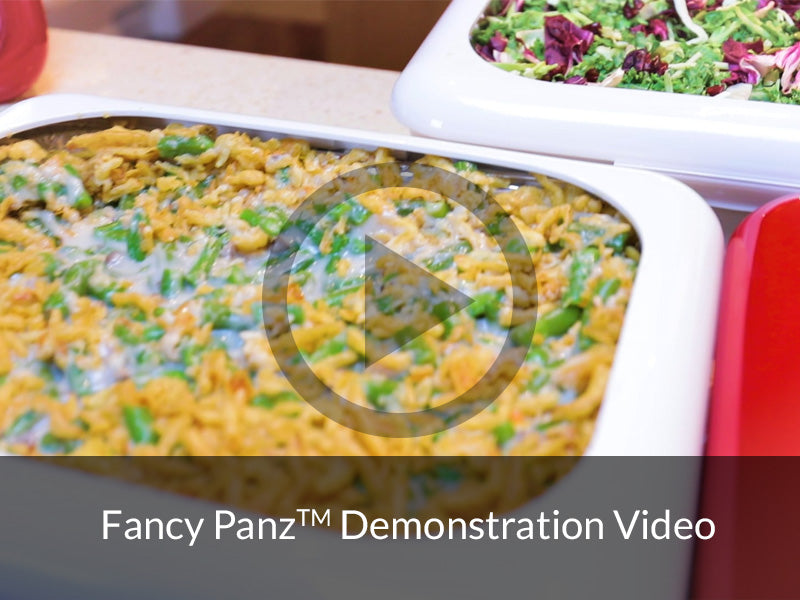 Fancy Panz demonstration to dress up disposable pans