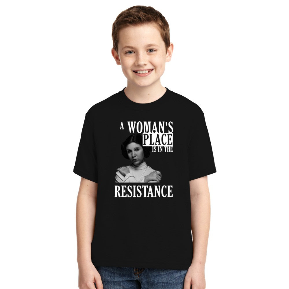 A Woman's Place Is In The Resistance Youth T-shirt