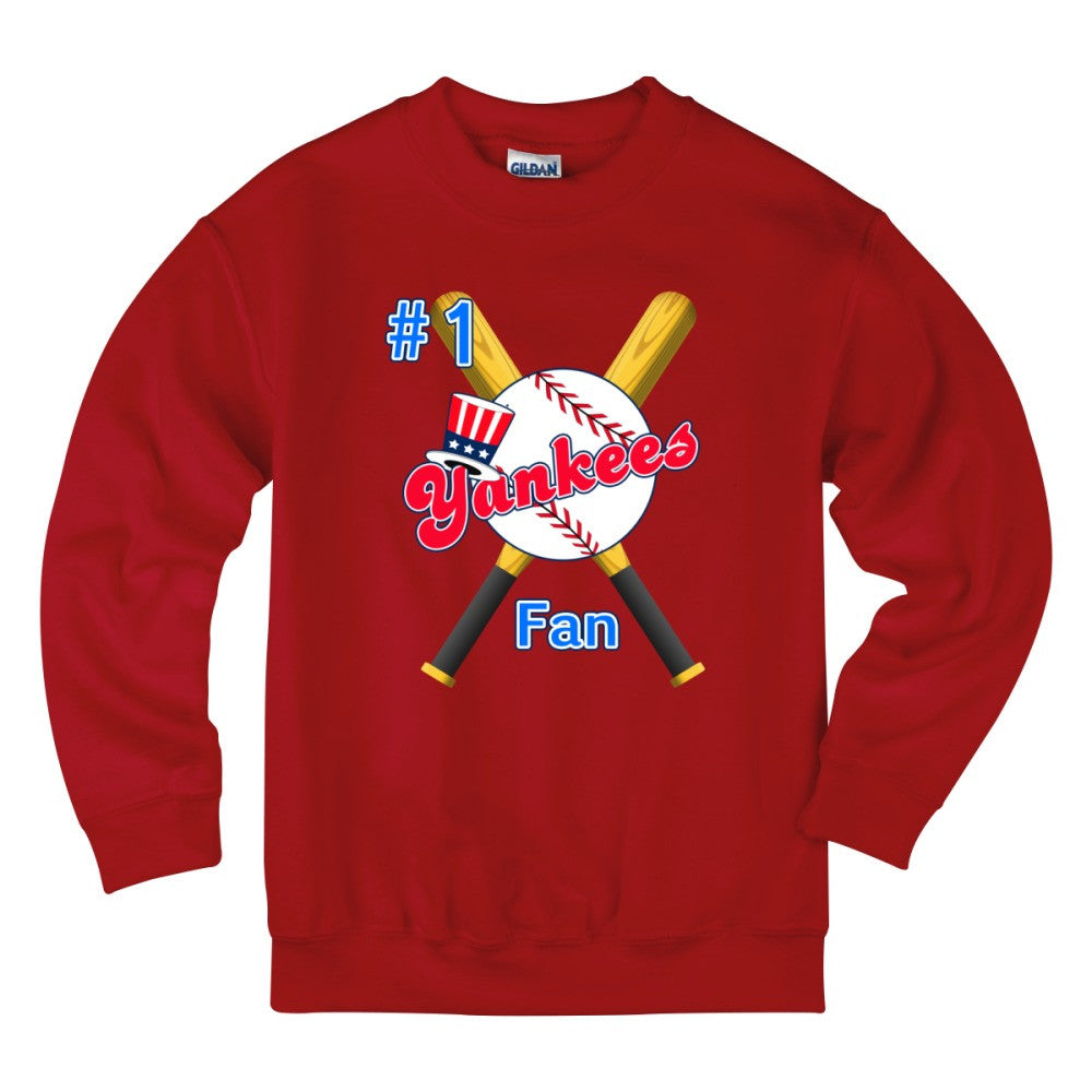 # 1 Yankees Fan Ball Bats BoSox Kids Sweatshirt