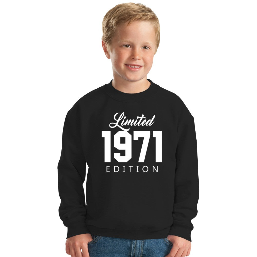 1971 Limited Edition Birthday Kids Sweatshirt