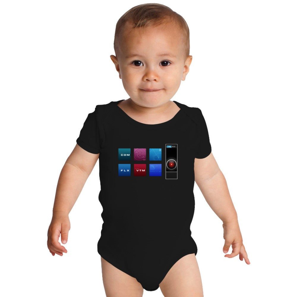 2001 A Space Odyssey Hal 9000 Baby Onesies