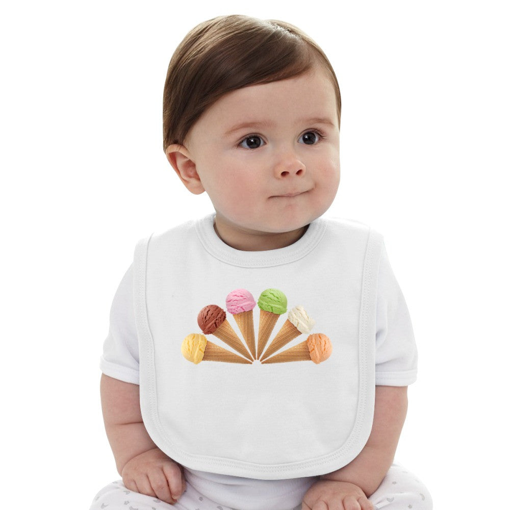 6 Ice Cream  Baby Bib
