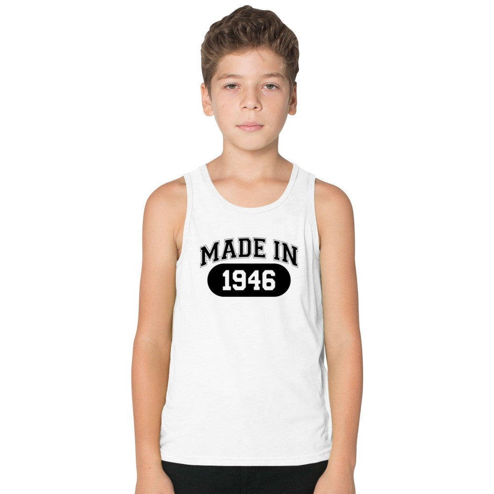 70th Birthday Gift Made 1946 Kids Tank Top