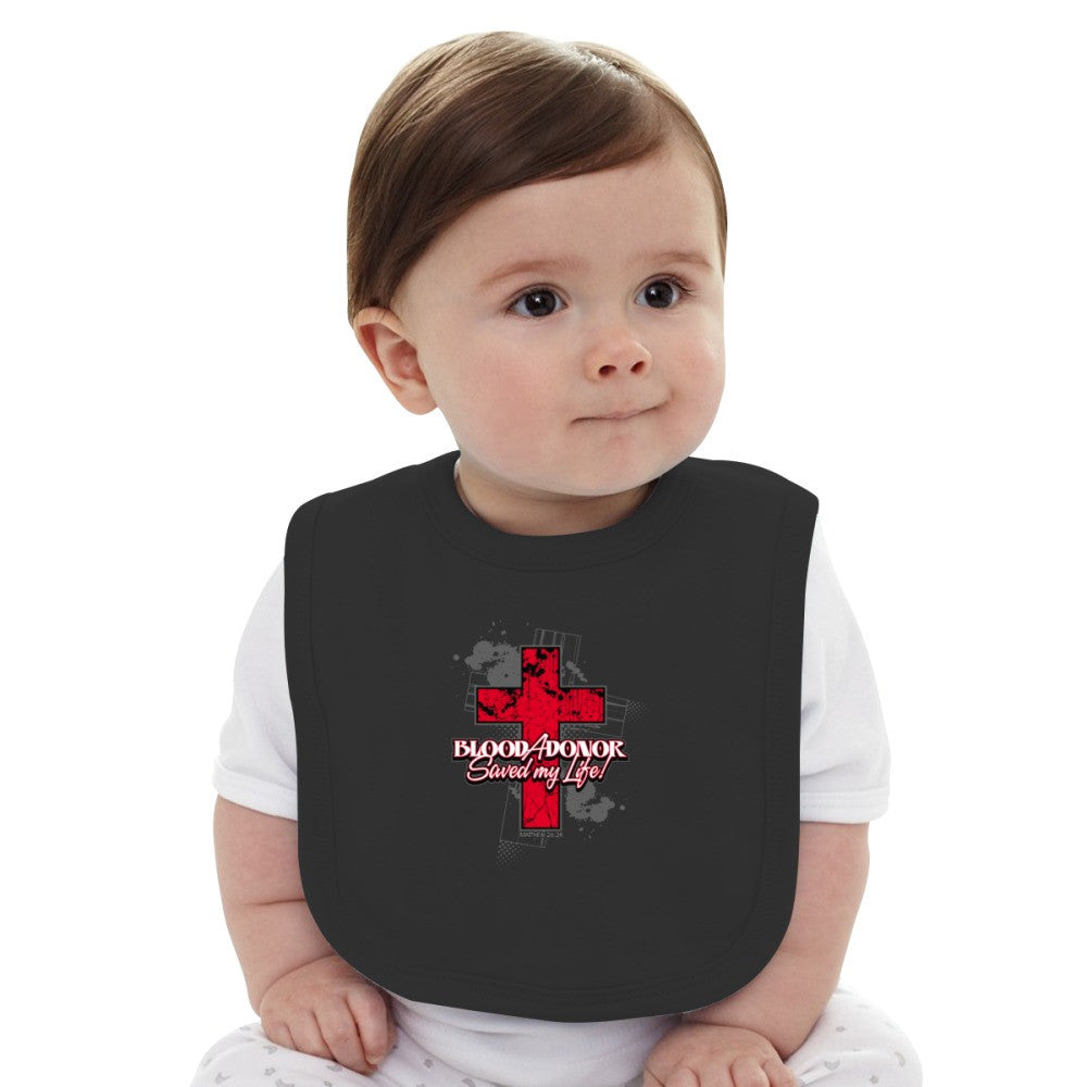 A Blood Donor Saved My Life! Baby Bib