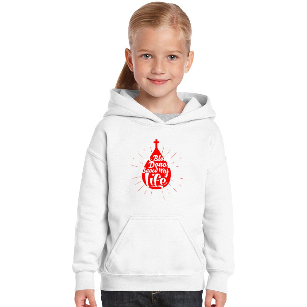 A Blood Donor Saved My Life Kids Hoodie