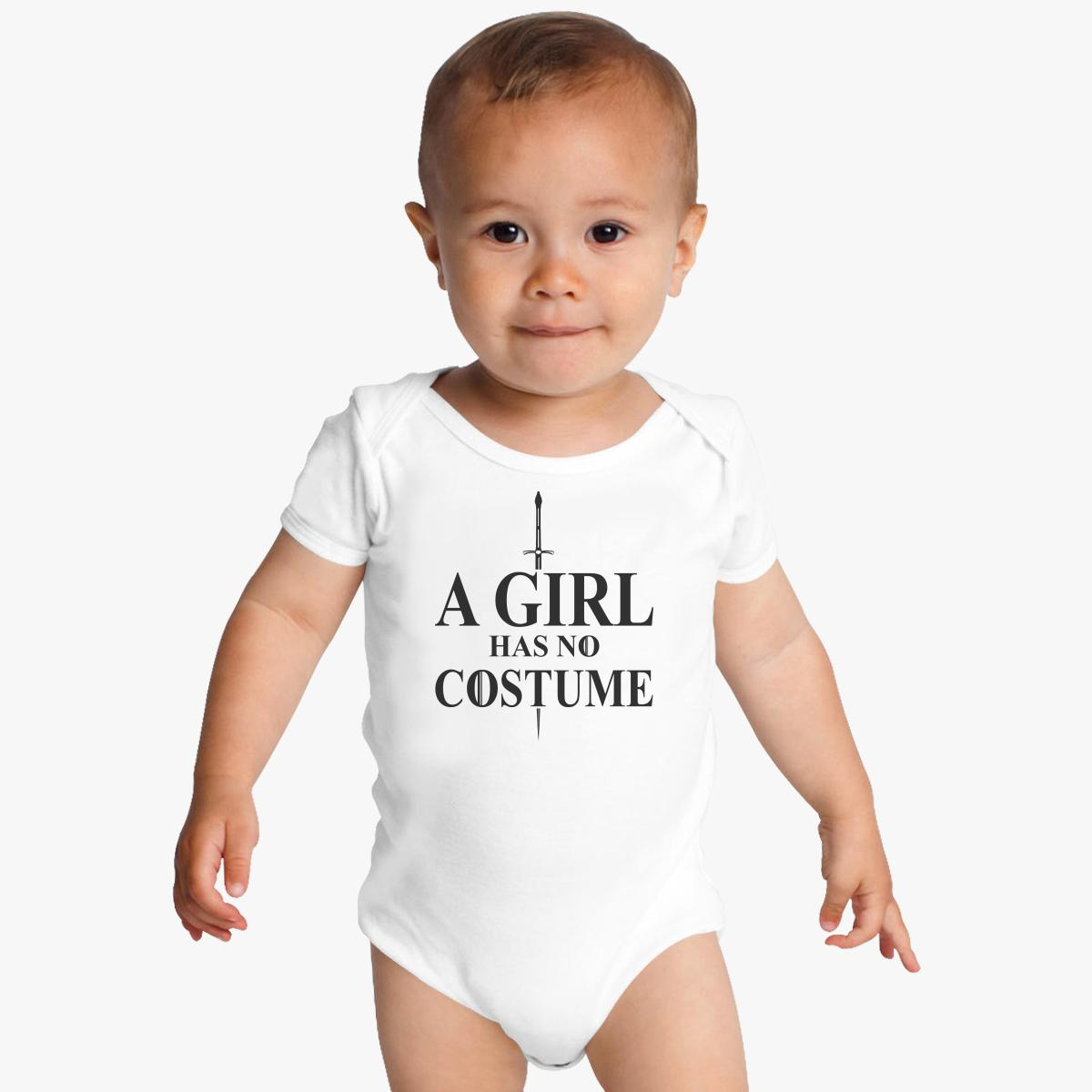 A Girl Has No Costume Baby Onesies