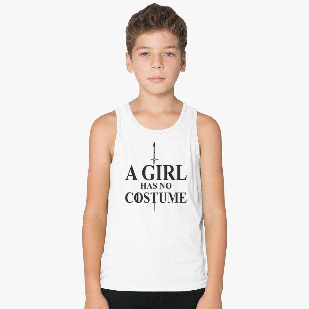 A Girl Has No Costume Kids Tank Top