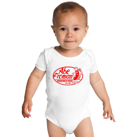 Abe Froman Red Sausage King Baby Onesies