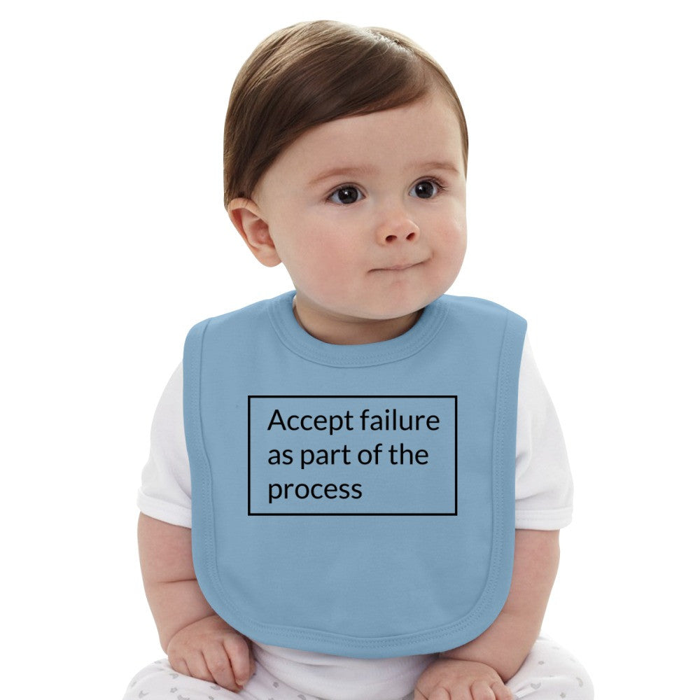 Accept Failure As Part Of The Process Baby Bib