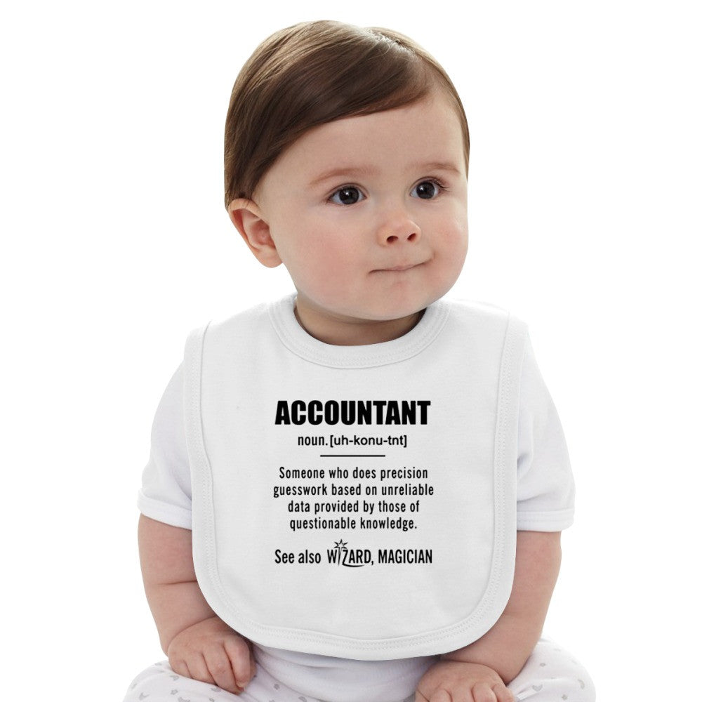 Accountant Gifts - Accountant Definition Shirt Baby Bib
