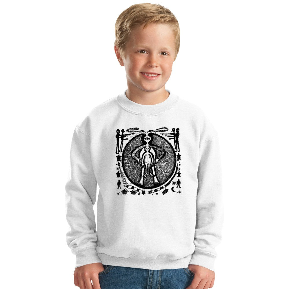 Alien Came With Piece HMRT Kids Sweatshirt