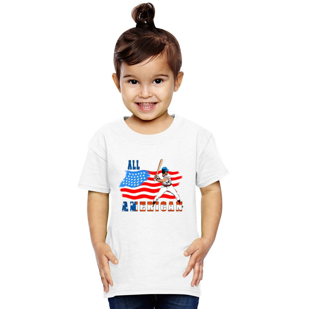 All American BaseBall Player Toddler T-shirt