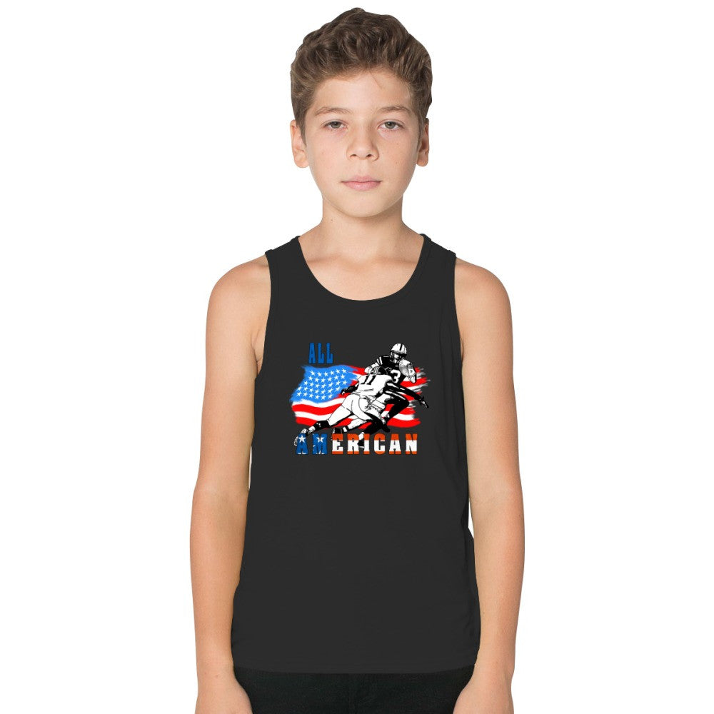 All American Football Player 6 Kids Tank Top