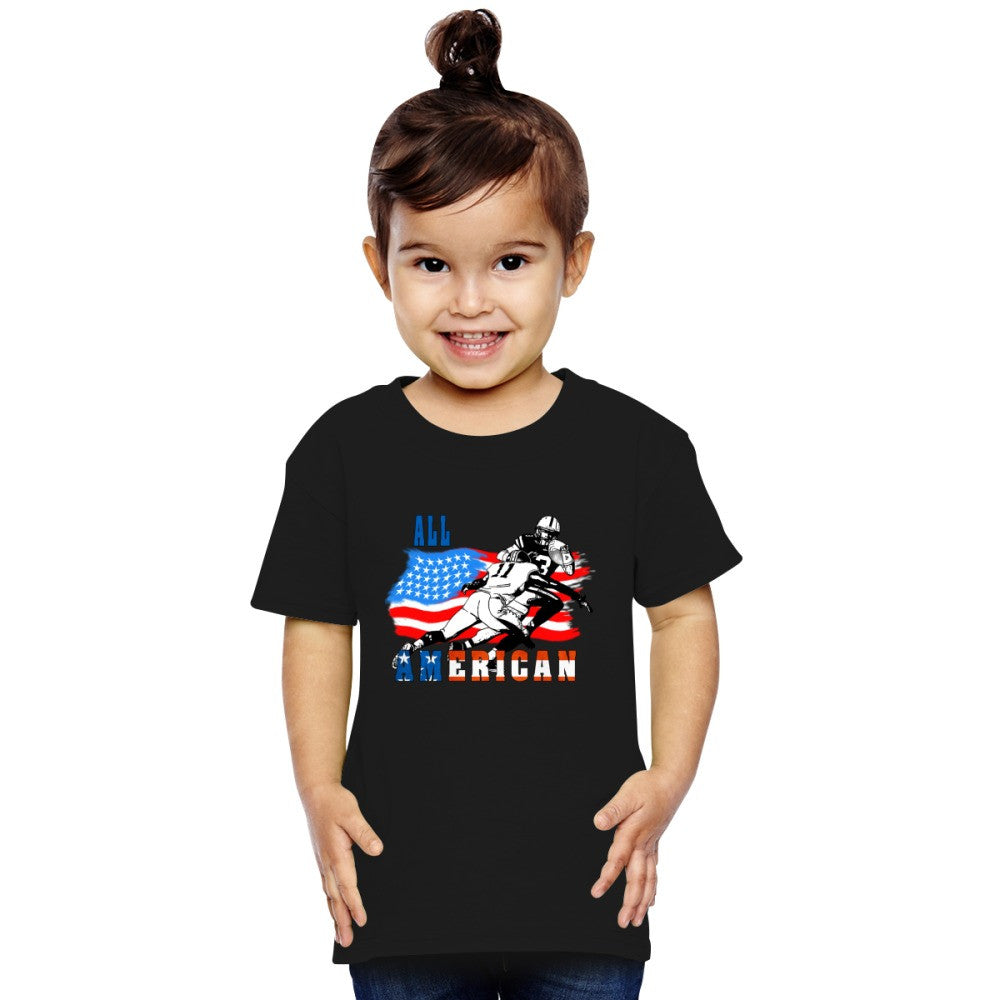 All American Football Player 6 Toddler T-shirt