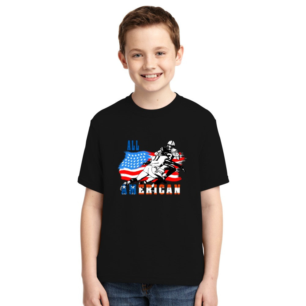 All American Football Player 6 Youth T-shirt