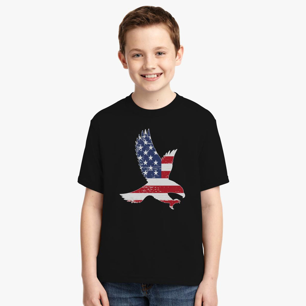 American Flag, Patriotic Eagle Youth T-shirt