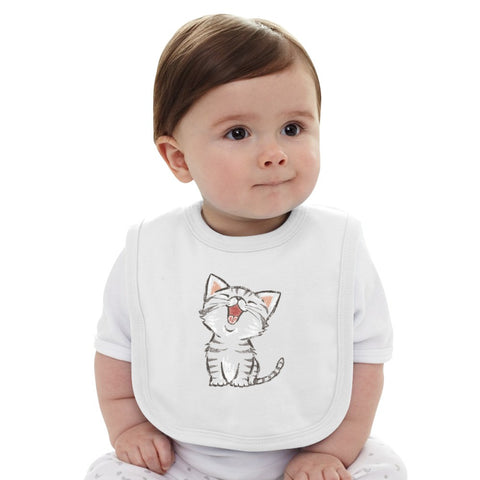 American Shorthair Happy Baby Bib
