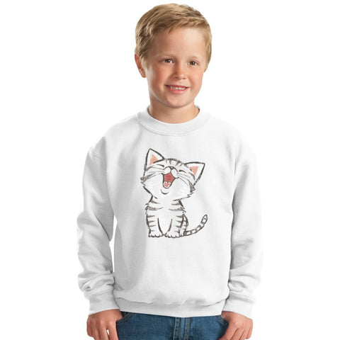 American Shorthair Happy Kids Sweatshirt