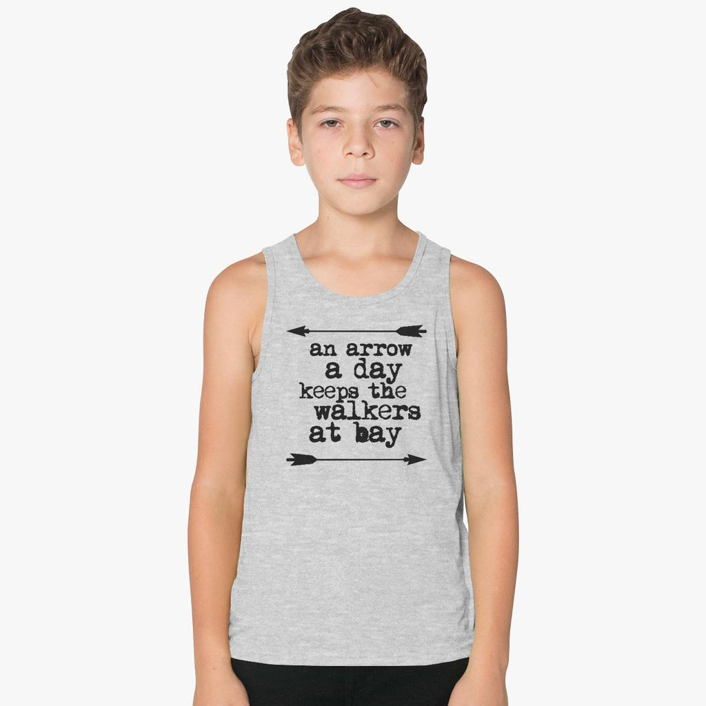 An Arrow A Day, Keeps The Walkers At Bay Kids Tank Top