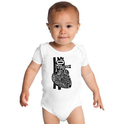 Anatomical Heart Baby Onesies